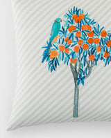 Kumarakom Tree Cushion - Indigo & Orange