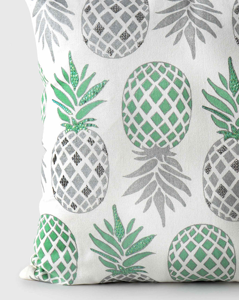 Mahe Pineapple Embellished Cushion