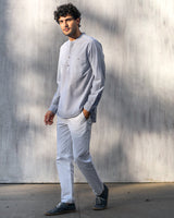 Pondicherry Stripe Shirt - Blue & White