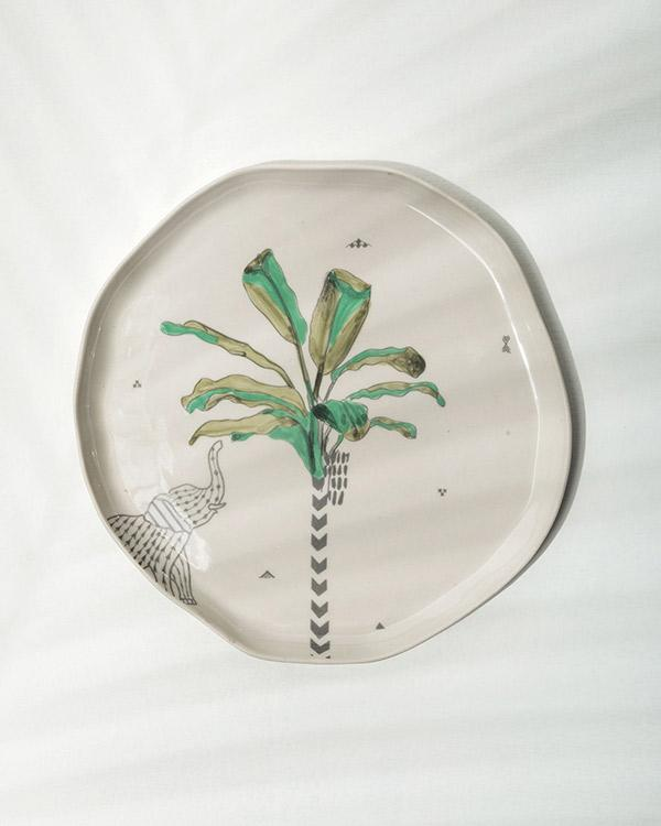 Ceylon Palm Quarter Plate