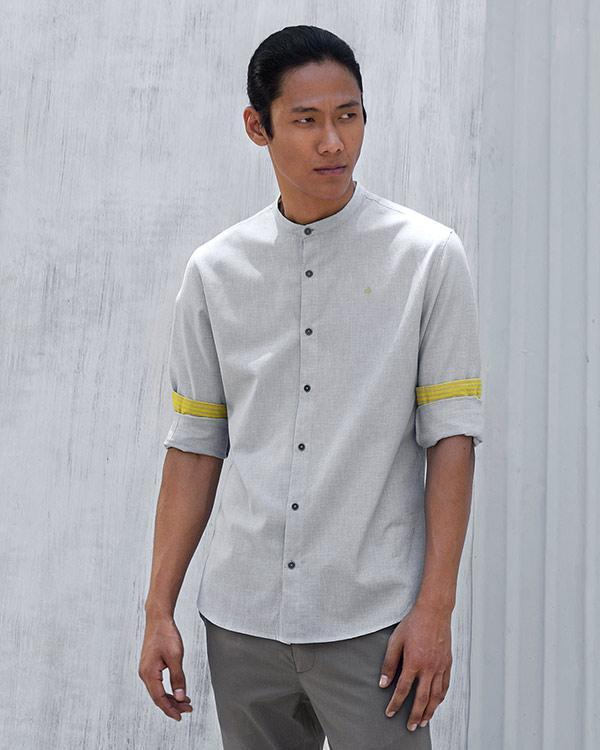 Nawab Check Shirt - Grey