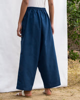 Low Crotch Pocket Pant - Blue