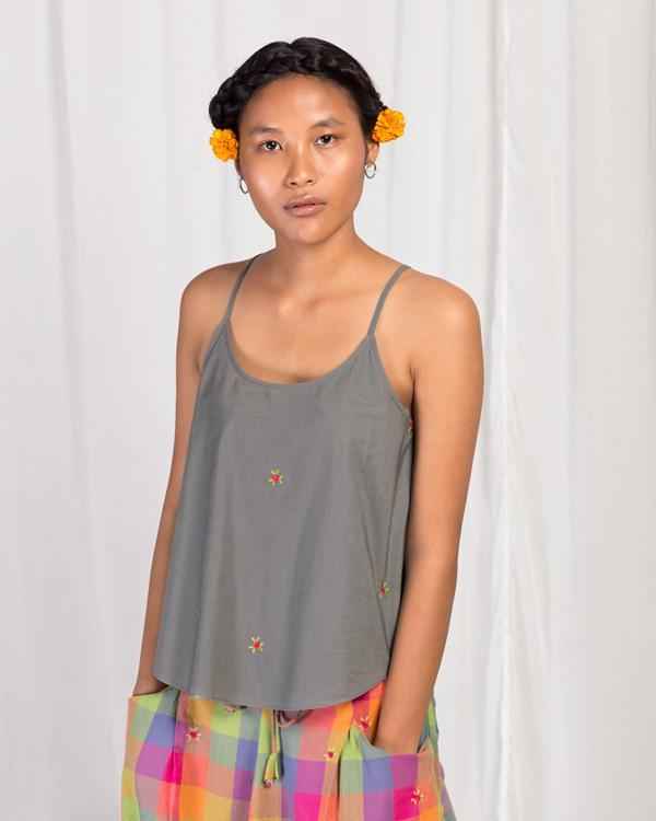 Vapour Camisole Top - Grey