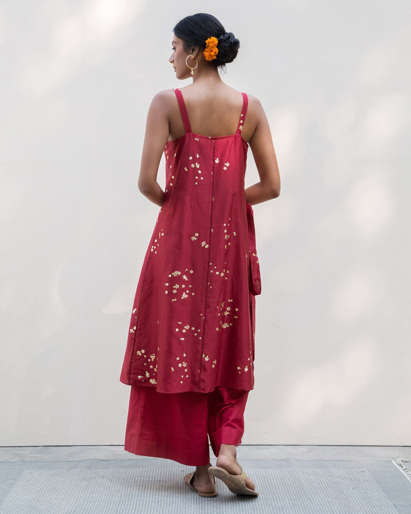 Strappy Kurta - Red