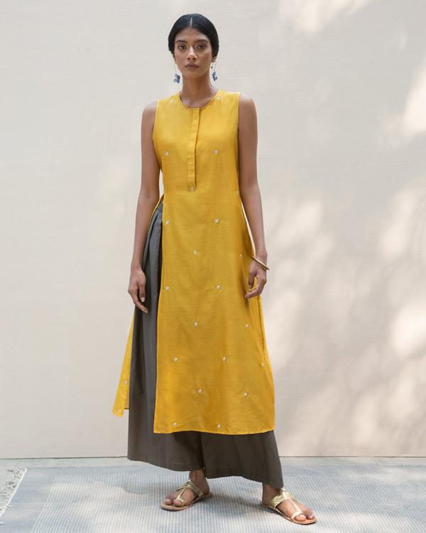 High Slit Kurta - Yellow