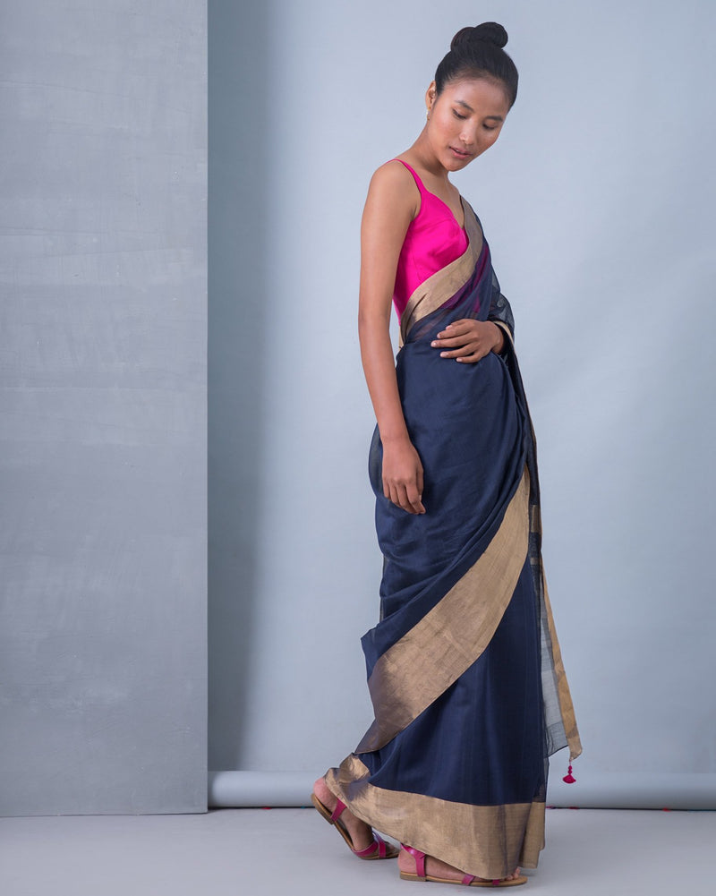 Tribe Sari - Blue & Gold