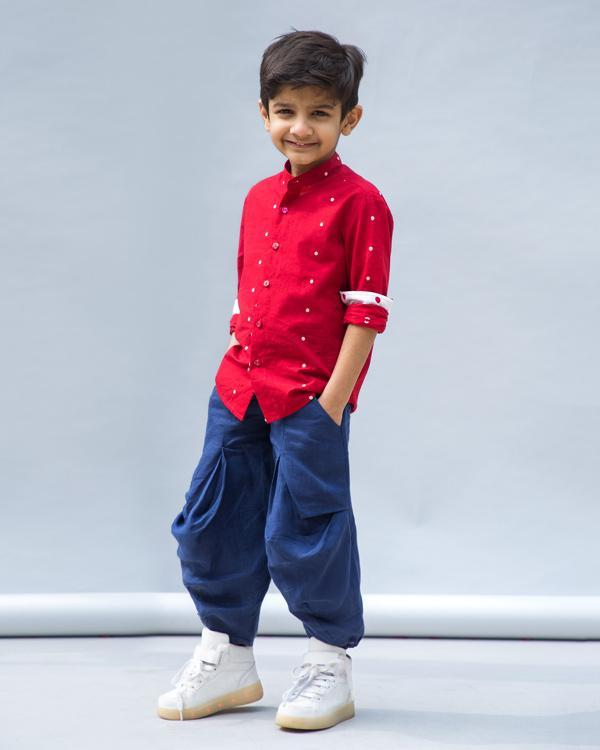 Little Nawab Shirt - Red
