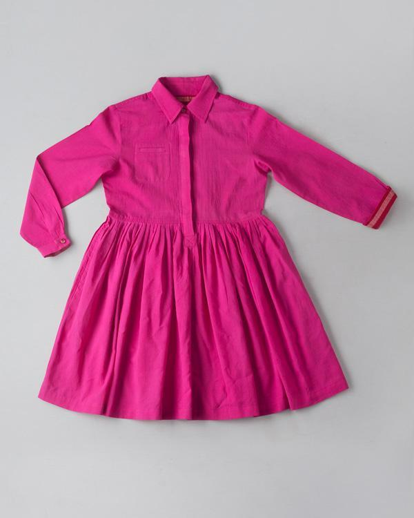 Little Pleated Shirt Dress