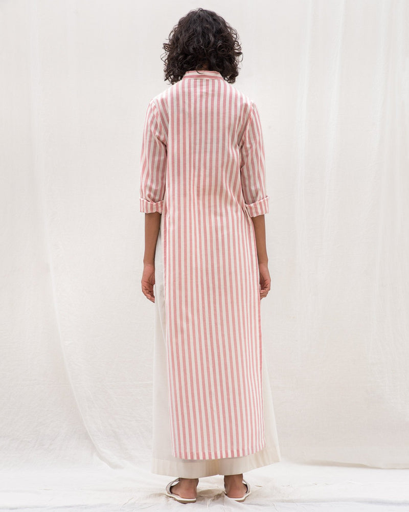 For Many Moons Stripe Kurta - Pink