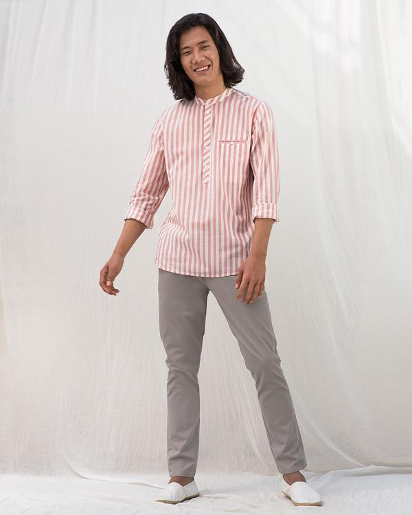 Pondicherry Stripe Shirt - Pink
