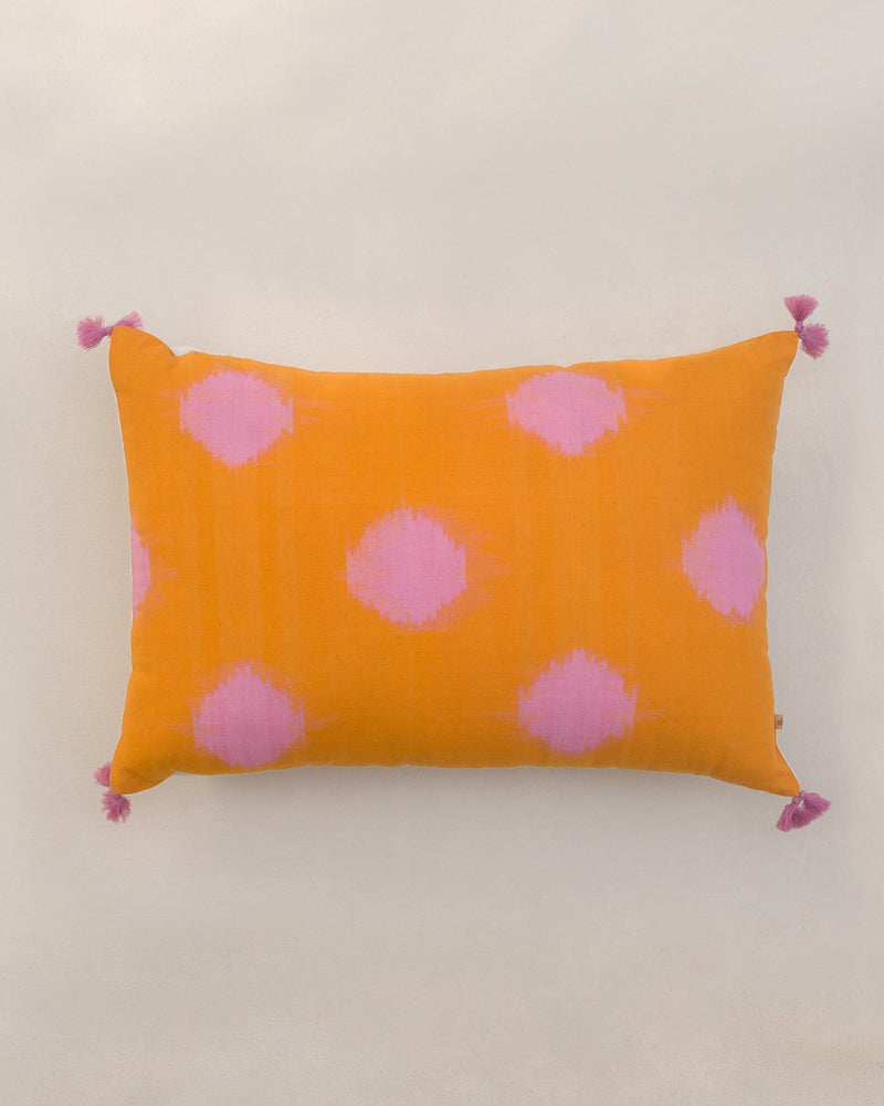 Ikat Dot Lumbar Pillow