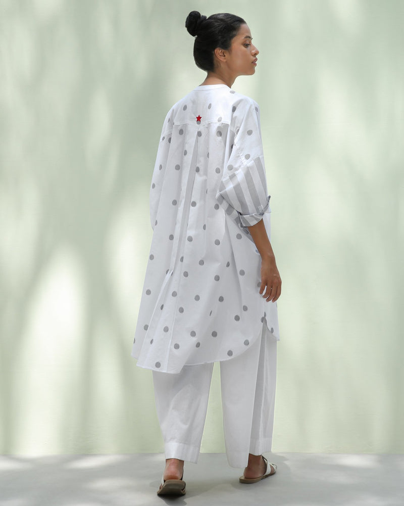 Lazy Sunday Tunic - Grey Ikat