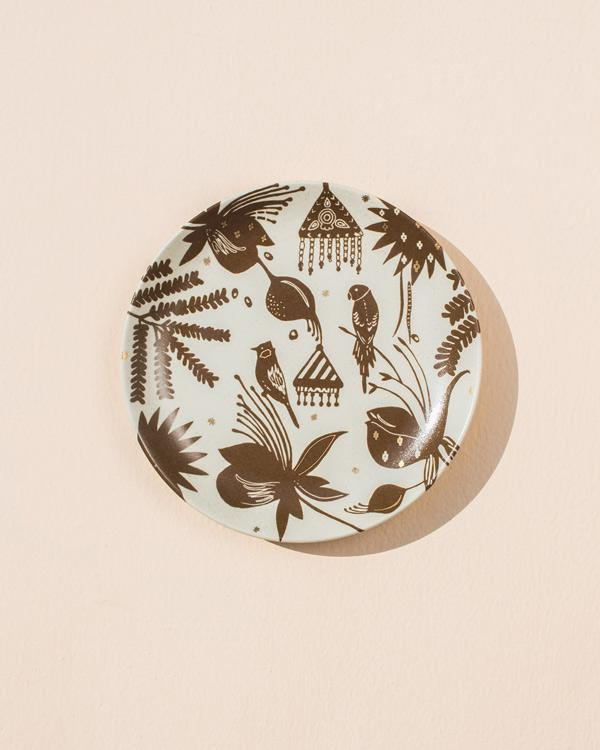 Tribe Quarter Plate - Brown