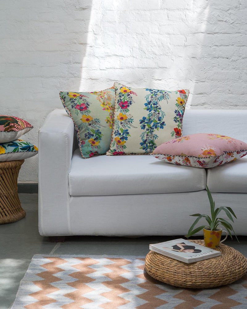 Mid Summer Cushion - White