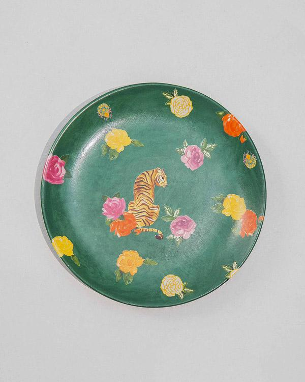 Tigress Quarter Plate - Green