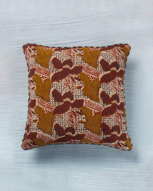 Colobus Cushion - Maroon