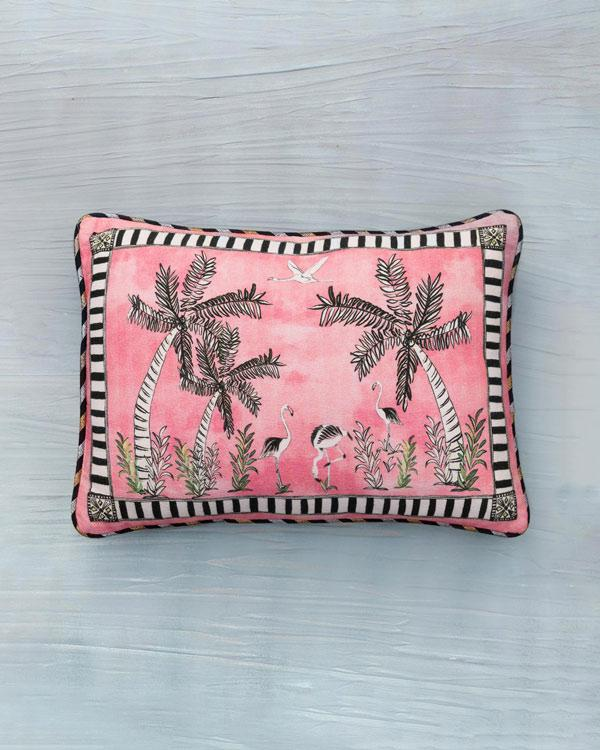 Flamingo Lumbar Pillow - Pink