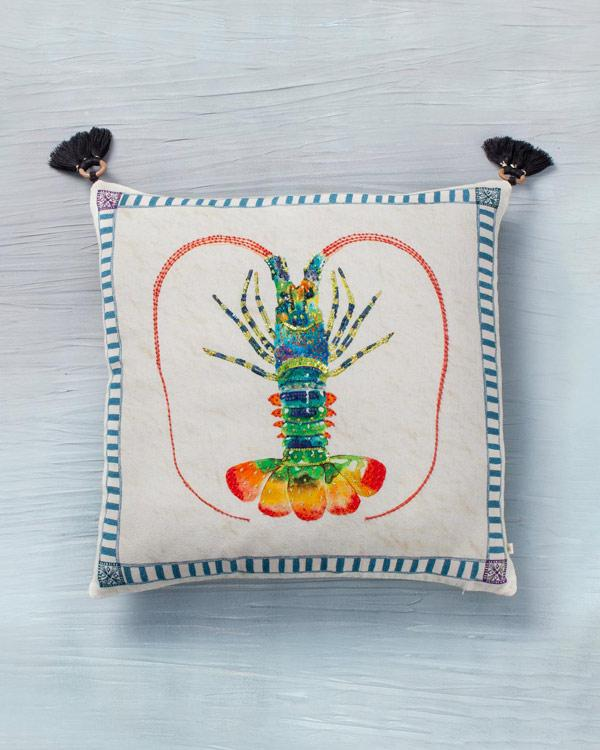 Lobster Cushion - White