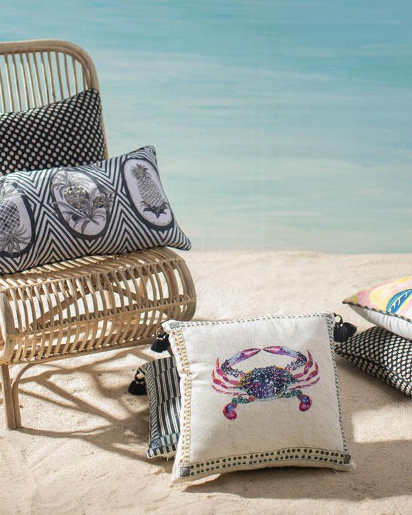 Crab Cushion - White