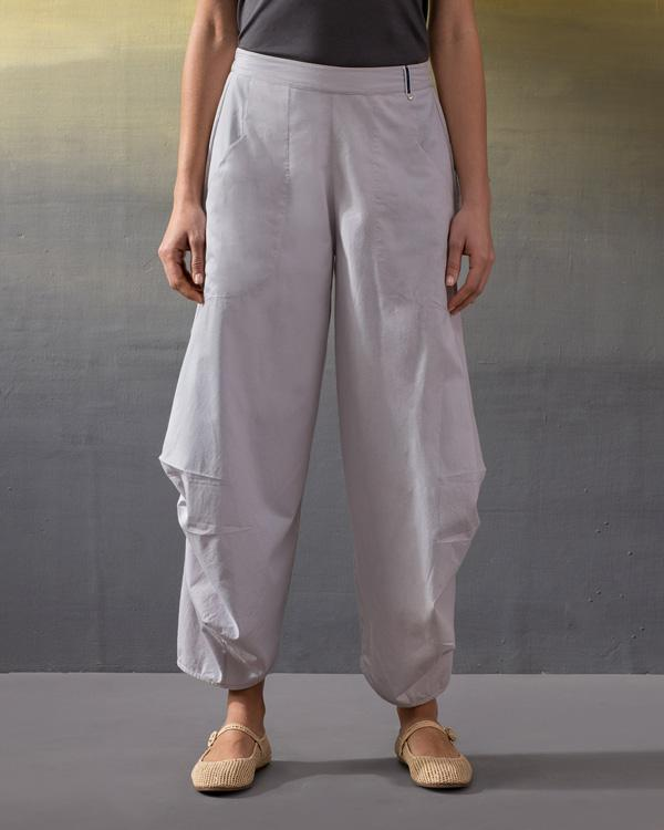 Boat Cropped Pants - Soft Grey