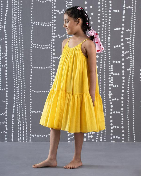 Little Huhu Dress - Yellow