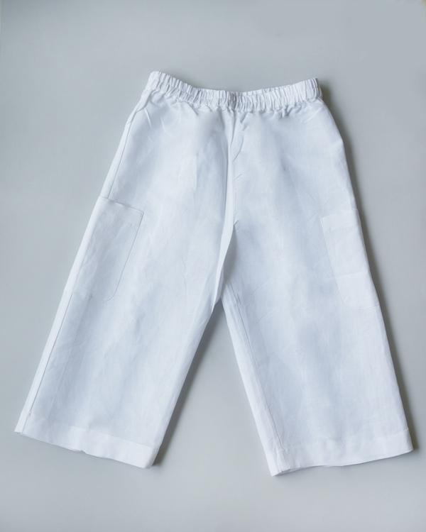 Little Flare Pants - White
