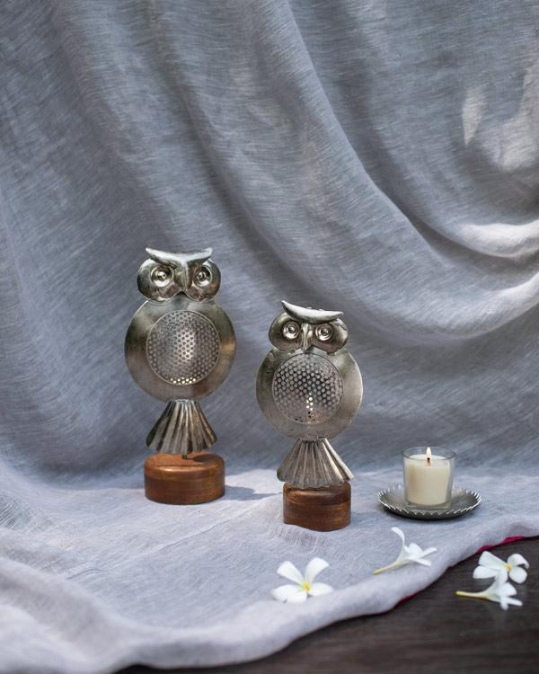 Owl Tealight Holder Large
