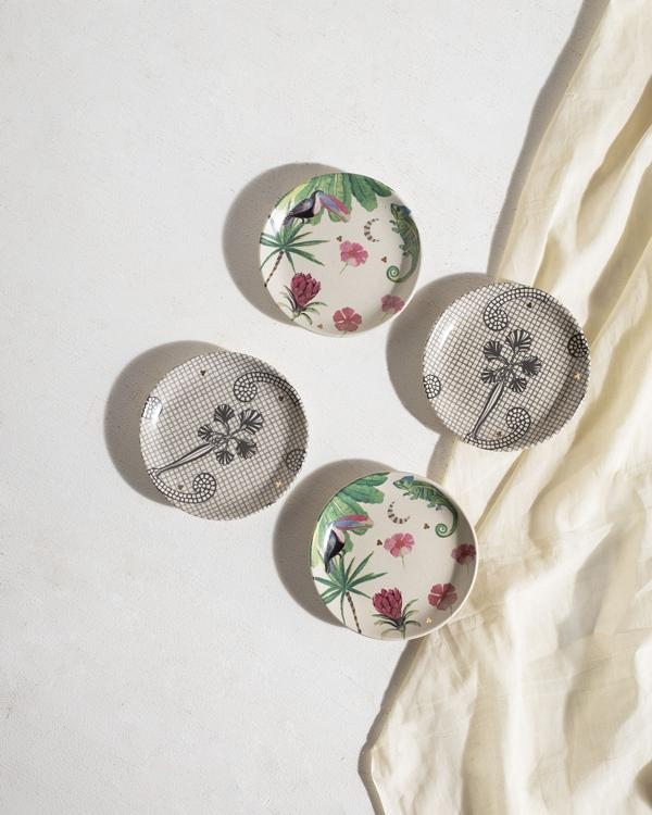 Madagascar Tea Plates (Set of 4)