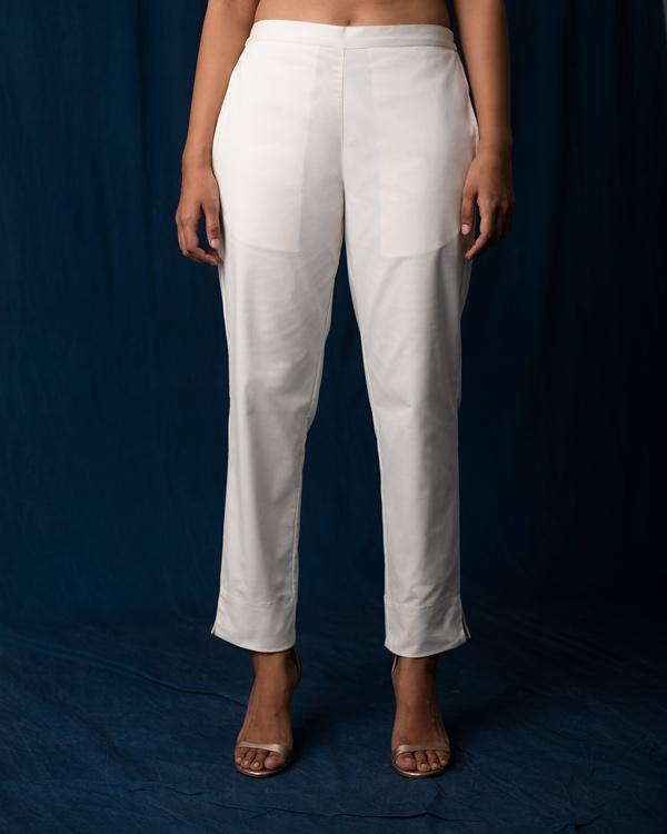 Tapered Trousers - Ivory