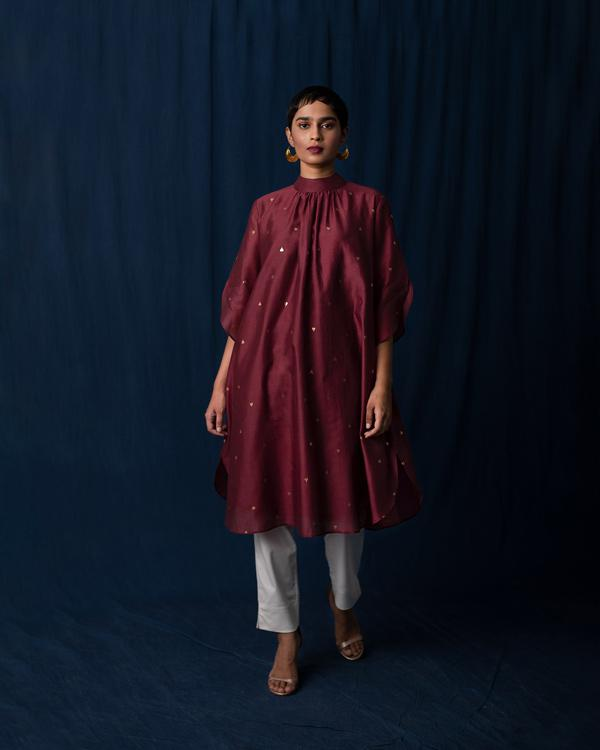 High Neck Kurta - Red