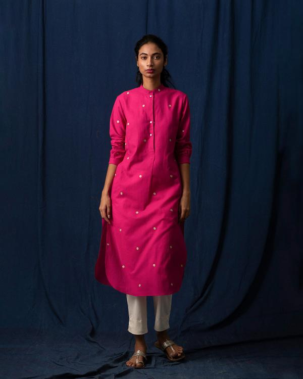 Long Length Kurta - Pink