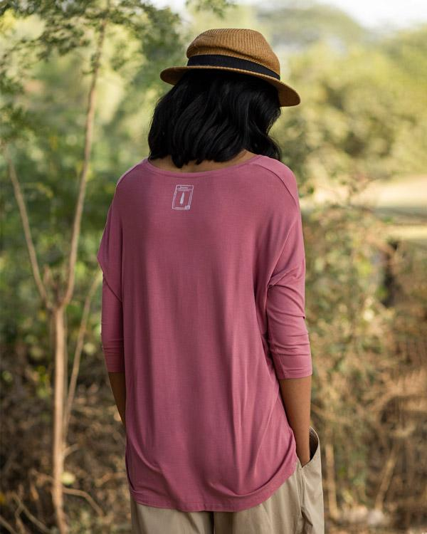 Safar V-Neck Top - Pink