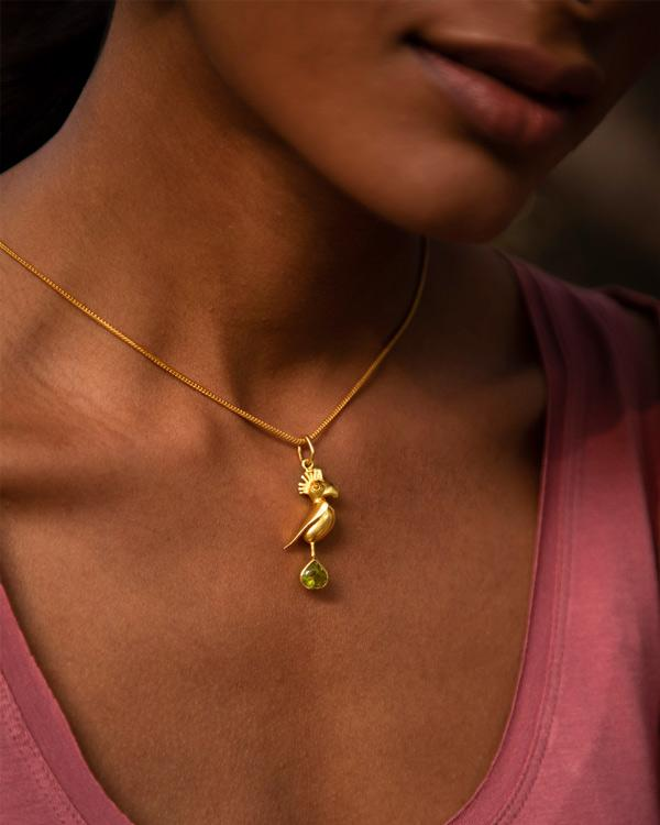 Parrot Charm - Gold