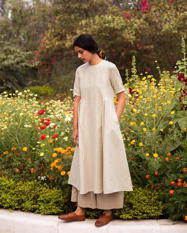 Pleat Kurta - Natural