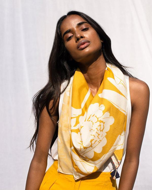 Riverbed Scarf - Ochre