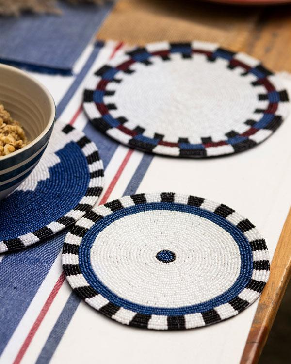 Nadi Beaded Trivet (Set of 3)