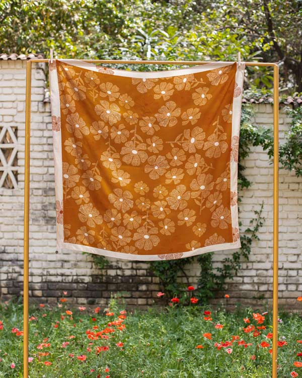 Safari Floral Scarf - Rust