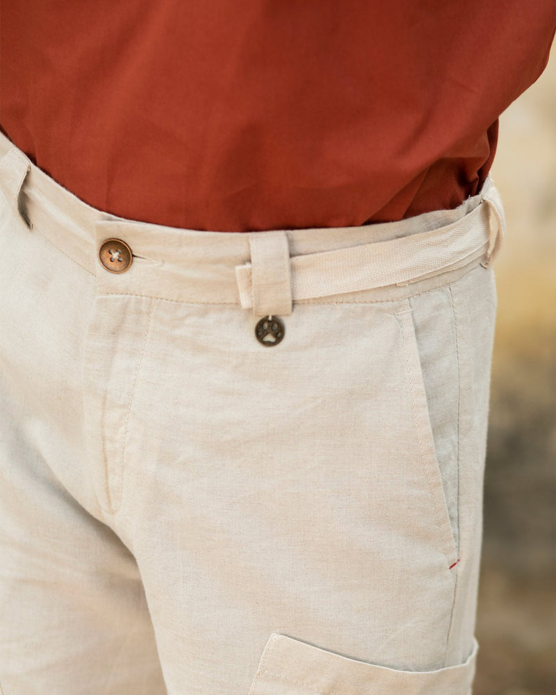 Big Pocket Pants - Natural