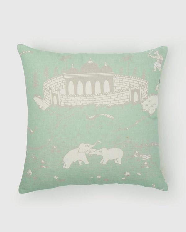 Pazhani Cushion - Smoke Green