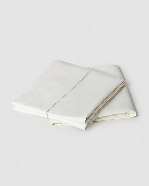 Solid Sheeting (Set of 4) - Ivory