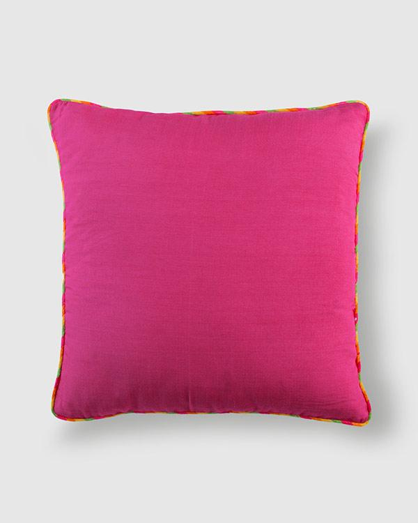 Tussar Cushion - Berry