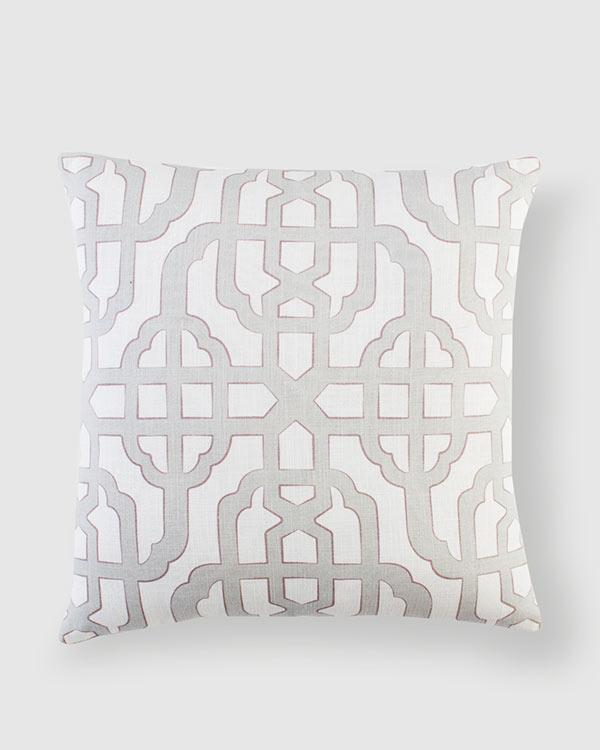 Trellis Cushion - Dark Taupe