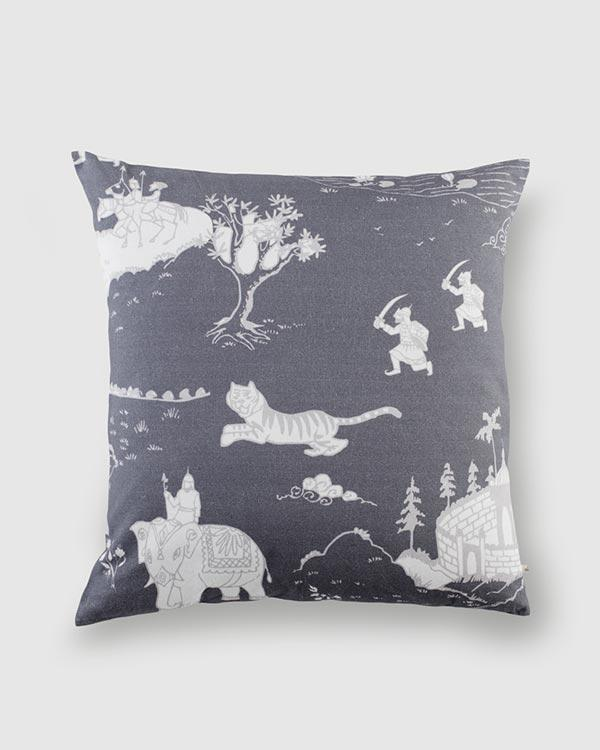 Pazhani Cushion - Charcoal