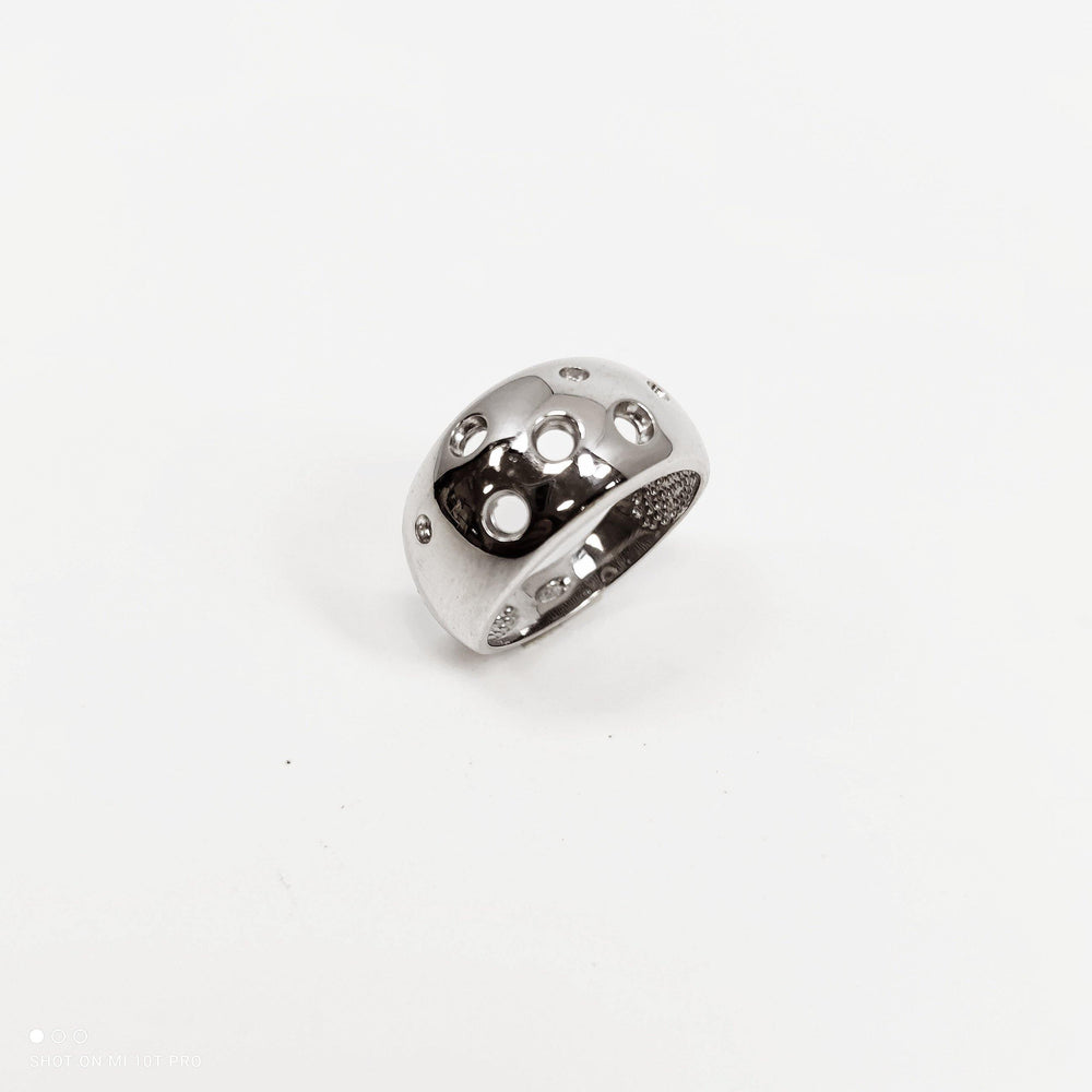 Anello CHEESE large in argento 925 in quattro varianti