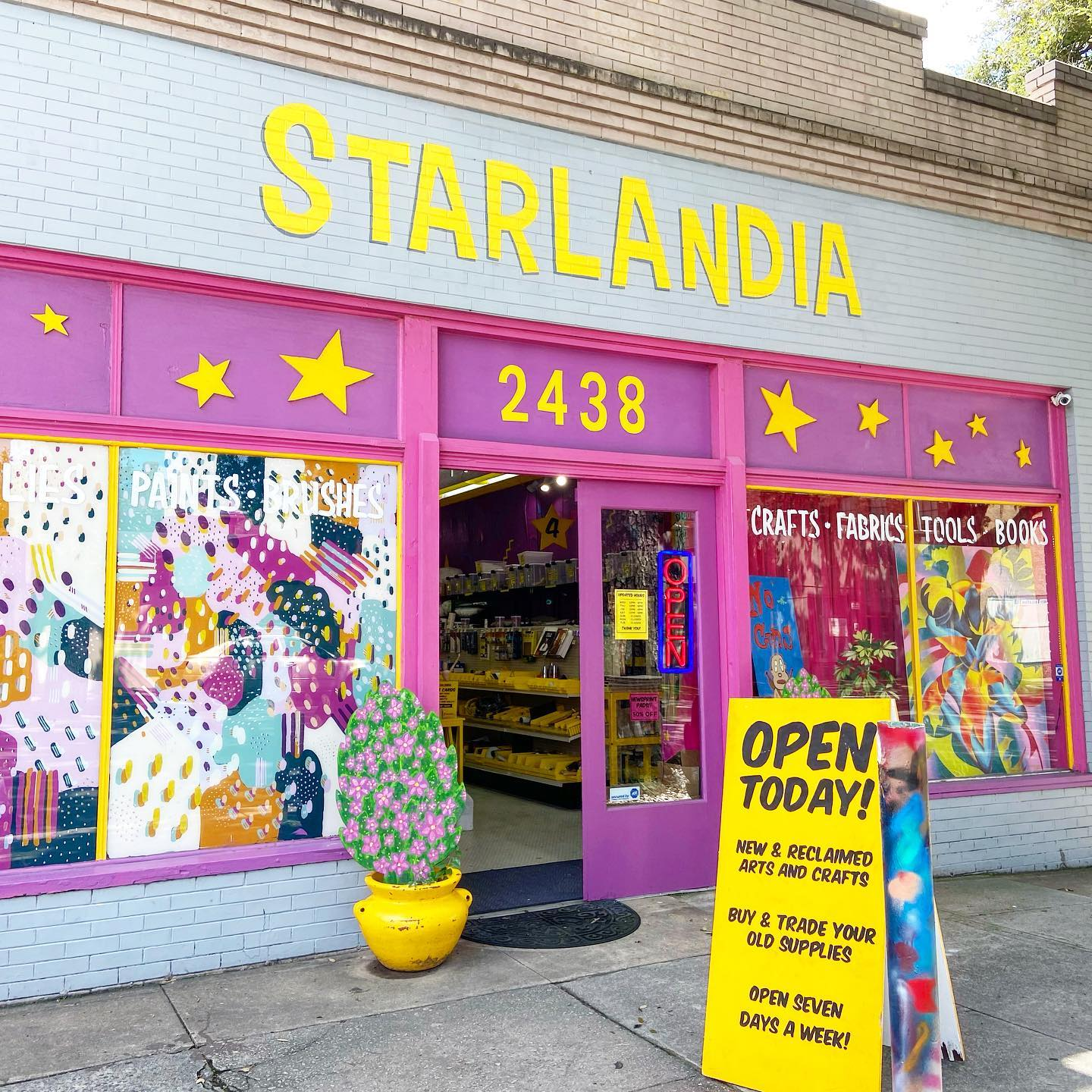 Starlandia's storefront in beautiful Savannah, Georgia.