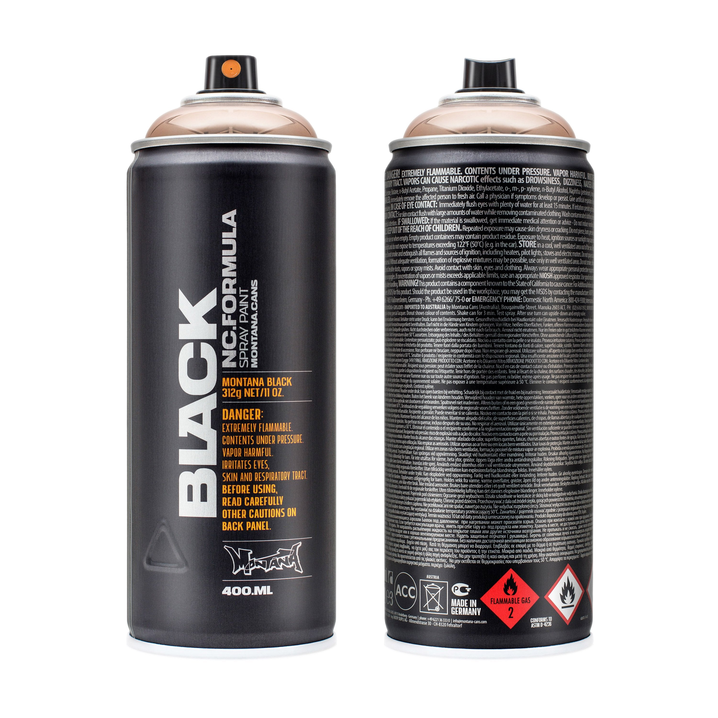 Montana Cans BLACK 400ml Spray Color, Copperchrome