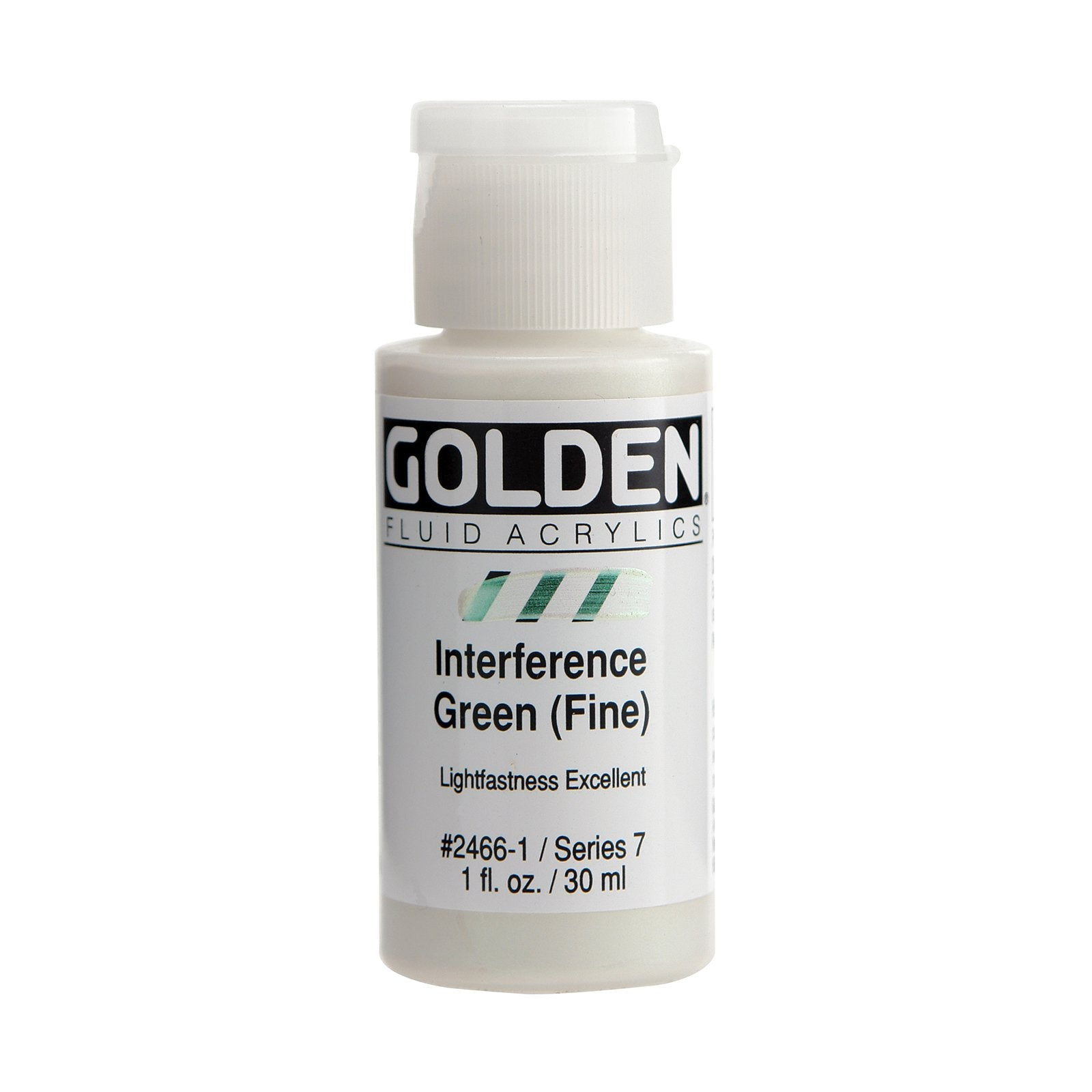 Golden® Fluid Interference Acrylic, 1 oz., Interference Green
