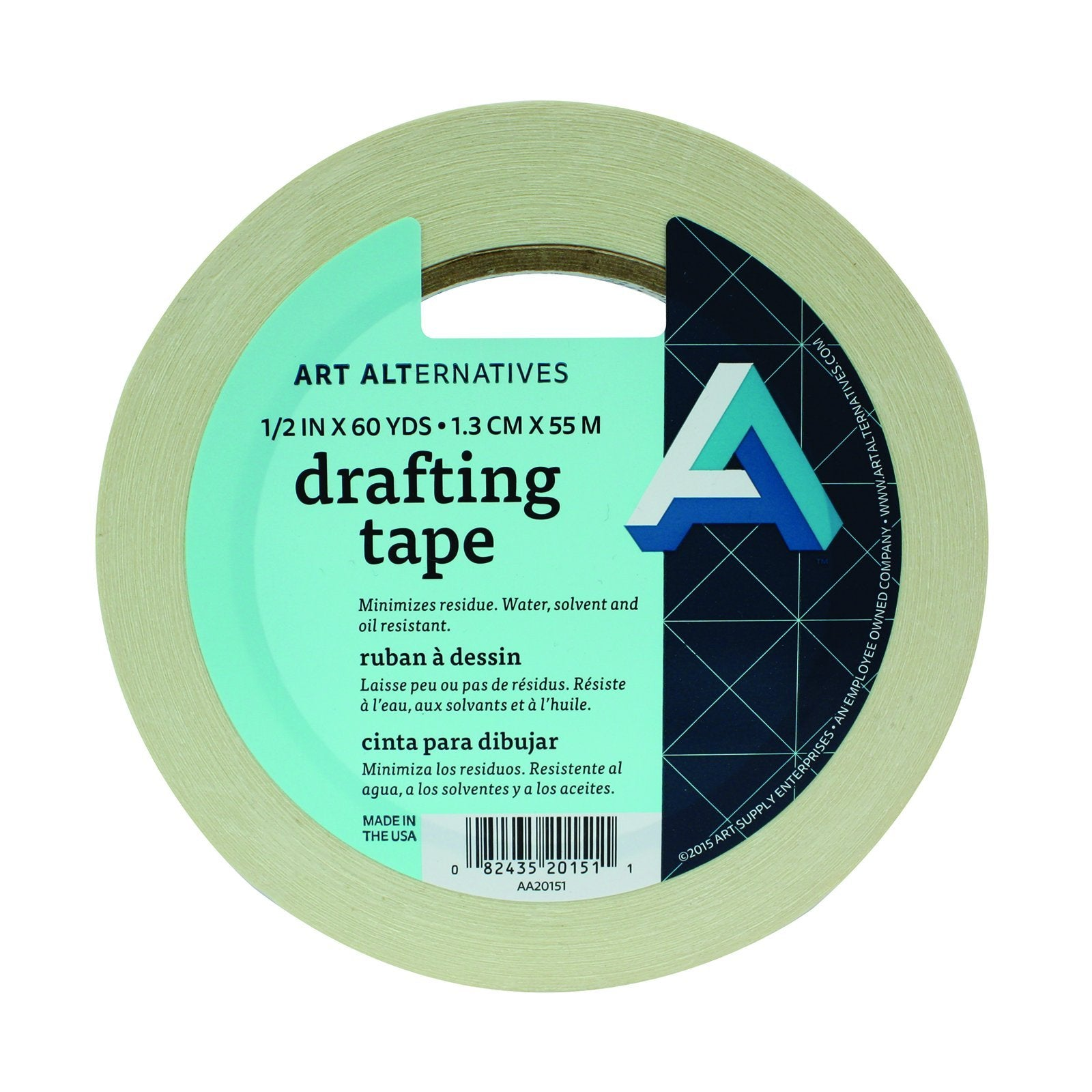 "Art Alternatives Drafting Tape, 1/2"" x 60 yds."