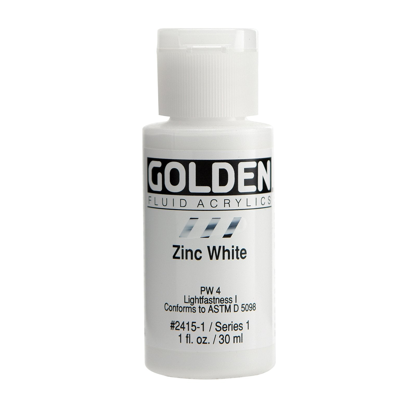 Golden® Fluid Acrylic, 1 oz., Zinc White