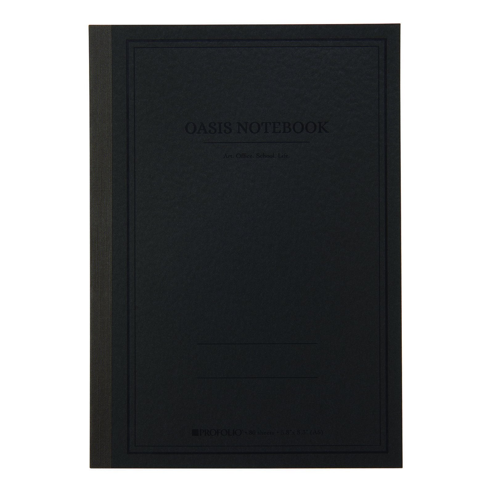 Itoya ProFolio Oasis Notebooks, Medium, Charcoal